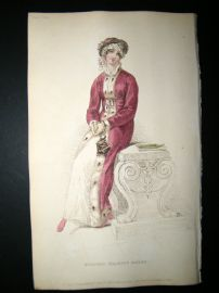 Ackermann 1813 Hand Col Regency Fashion Print. Morning Dress 9-5